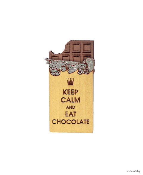 """Значок деревянный """"Шоколадка"""" — фото, картинка"""