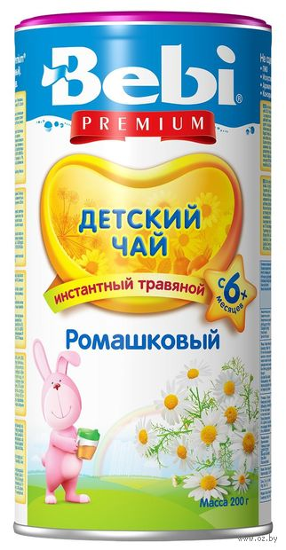 """Чай зеленый детский """"Bebi Premium. Ромашковый"""" (200 г) — фото, картинка"""