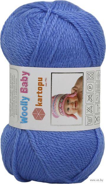 "Пряжа ""KARTOPU. Woolly Baby №K535"" (50 г; 148 м; синий) — фото, картинка"