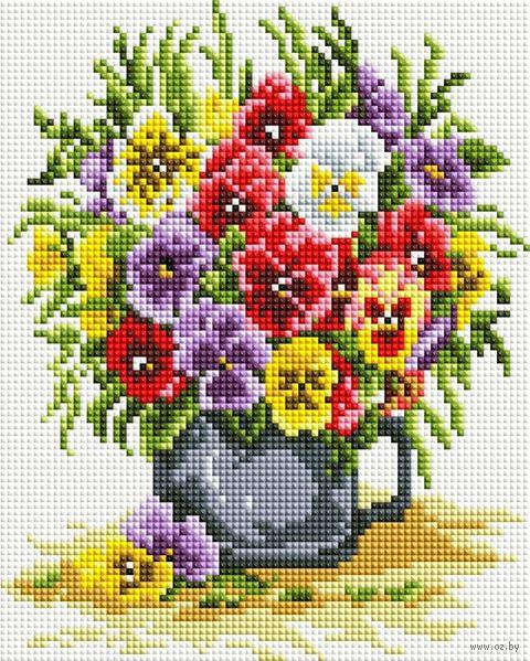 """Алмазная вышивка-мозаика """"Цветочное счастье"""" (200х250 мм) — фото, картинка"""