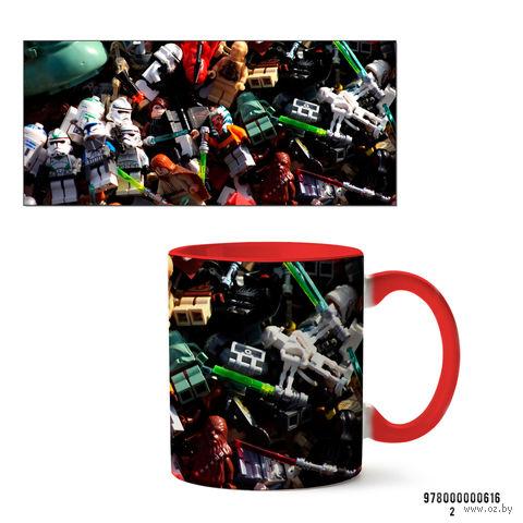 """Кружка """"Лего. Звездные войны"""" (616, красная)"""
