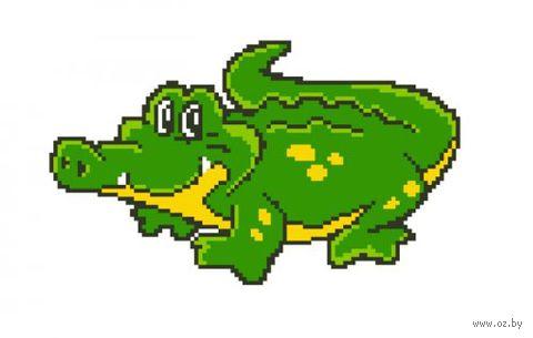 "Вышивка крестом ""Крокодил"" (180x160 мм) — фото, картинка"