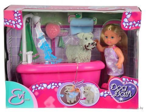 """Игровой набор """"Эви с собачкой в ванной комнате"""" — фото, картинка"""