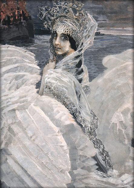 "Алмазная вышивка-мозаика ""Царевна-Лебедь"" (700х500 мм) — фото, картинка"