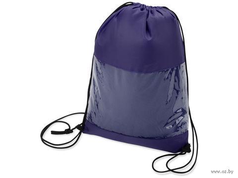 """Плед в рюкзаке """"Кемпинг"""" (синий) — фото, картинка"""