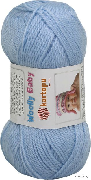 "Пряжа ""KARTOPU. Woolly Baby №K544"" (50 г; 148 м; небесно-голубой) — фото, картинка"