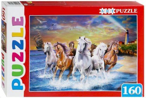 "Пазл ""Лошади у моря"" (160 элементов) — фото, картинка"