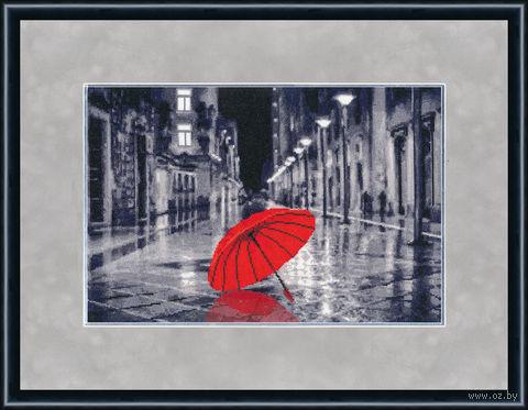 """Вышивка крестом """"Красный зонтик"""""""