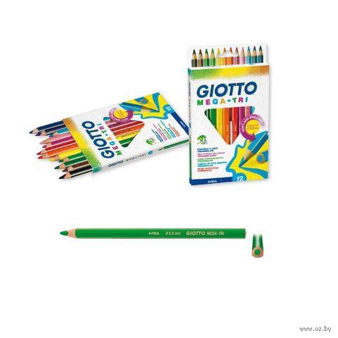 "Цветные карандаши ""GIOTTO MEGA-TRI"" (12 цветов)"