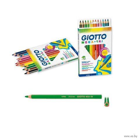 "Набор карандашей цветных ""Giotto Mega-Tri"" (12 цветов)"