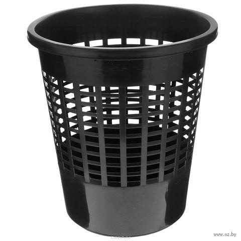Ведро для мусора пластмассовое (10 л; черное)