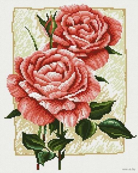 """Алмазная вышивка-мозаика """"Садовая роза"""" (270x340 мм) — фото, картинка"""