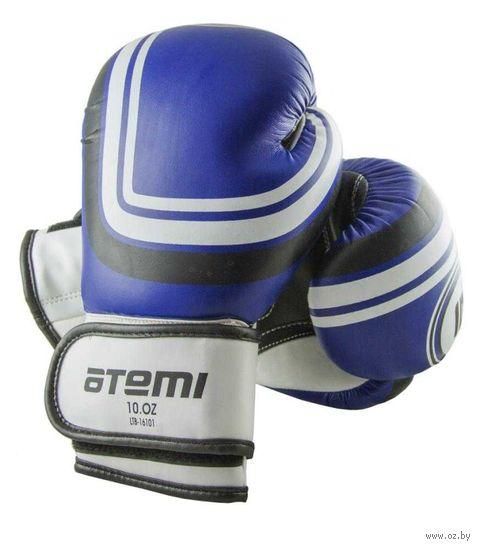 Перчатки боксёрские LTB-16101 (L/XL; синие; 10 унций) — фото, картинка