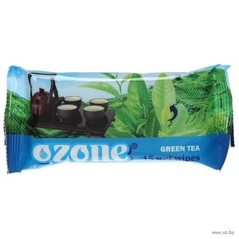 """Влажные салфетки """"Green Tea"""" (15 шт.) — фото, картинка"""