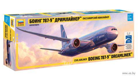 "Пассажирский авиалайнер Боинг 787-9 ""Дримлайнер"" (масштаб: 1/144)"