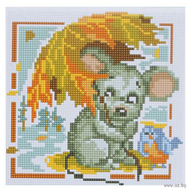 "Алмазная вышивка-мозаика ""Мышка"" (200x200 мм) — фото, картинка"