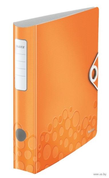 Папка-регистратор LEITZ Active Wow (A4/65 мм; оранжевый неон)