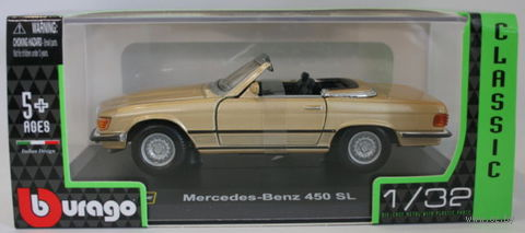 "Модель машины ""Bburago. Mercedes Benz 450 SL Cabrio"" (масштаб: 1/32) — фото, картинка"