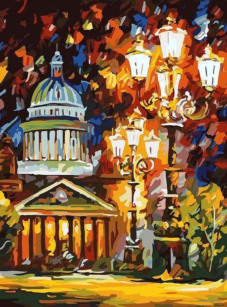 """Картина по номерам """"Мерцание ночи Санкт-Петербурга"""" (400х300 мм) — фото, картинка"""