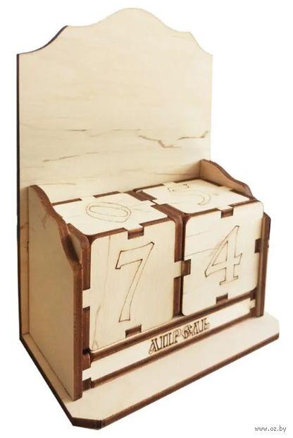 """Заготовка деревянная """"Вечный календарь с высокой задней стенкой"""" (107х68х150 мм) — фото, картинка"""