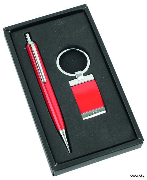 Набор. Ручка, брелок (красный) — фото, картинка