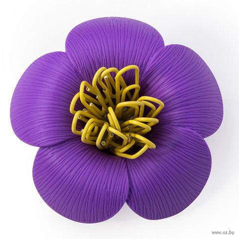 """Магнит для скрепок """"Blossom"""" (фиолетовый)"""