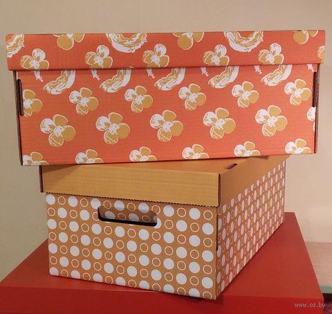 Набор коробок (2 шт.; оранжевая и желтая; арт. FLK004b)