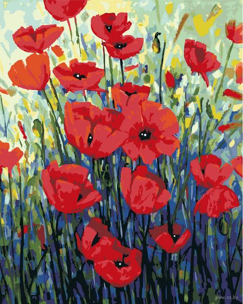 "Картина по номерам ""Джорджия Мансур. Красные маки"" (400х500 мм) — фото, картинка"