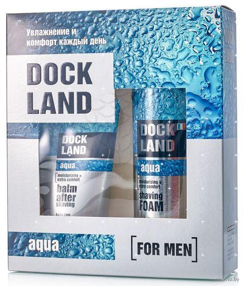 """Подарочный набор """"Dockland Aqua"""" (пена для бритья, бальзам после бритья) — фото, картинка"""