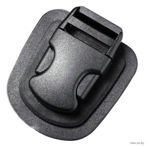 Пряжка фастекс на подложке одна регулировка (25 мм; чёрная) — фото, картинка