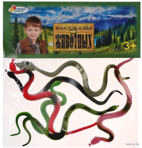 """Набор фигурок """"Змеи"""" (6 шт.; арт. 837S) — фото, картинка"""