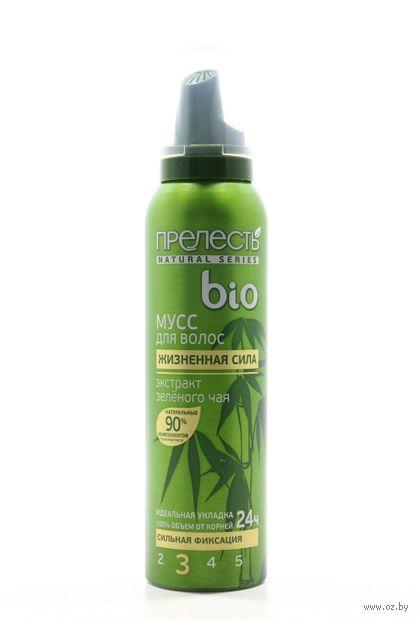 """Мусс для волос сильной фиксации """"Зеленый чай"""" (160 мл)"""