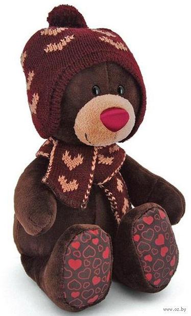 """Мягкая игрушка """"Медведь Choco. Зима"""" (30 см)"""