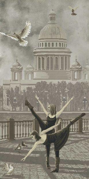 """Вышивка крестом """"Санкт-Петербург. Исаакиевский собор"""" (300x600 мм) — фото, картинка"""