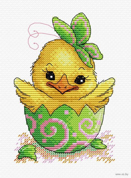 """Вышивка крестом """"Пасхальный цыпленок"""" (180х130 мм) — фото, картинка"""
