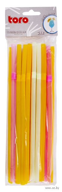 Набор соломок для питья пластмассовых (24 шт.)