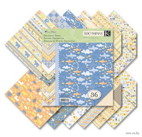 """Набор бумаги для скрапбукинга """"Для мальчика"""" (215х215 мм; 36 листов)"""