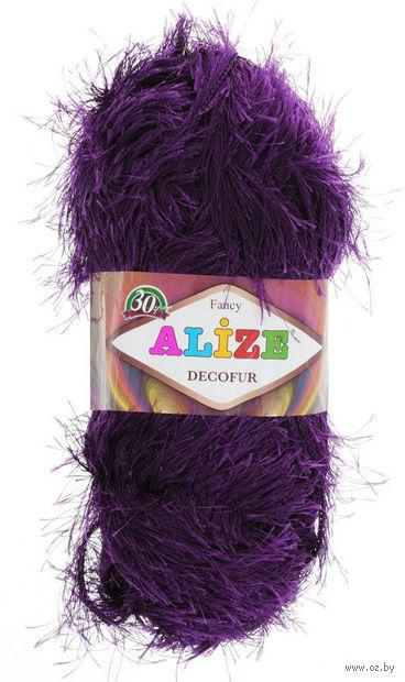 """Пряжа """"ALIZE. Decofur №304"""" (100 г; 110 м; фиолетовый) — фото, картинка"""