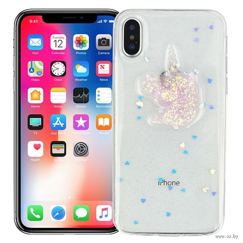 "Чехол для iPhone X/XS ""Crystal unicorn"" — фото, картинка"
