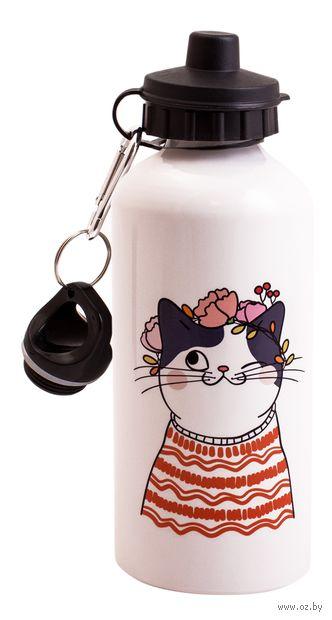 "Бутылка для воды ""Котик"" (600 мл) — фото, картинка"