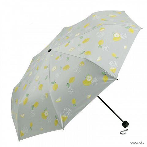 """Зонт """"Лимонный"""" (серый) — фото, картинка"""