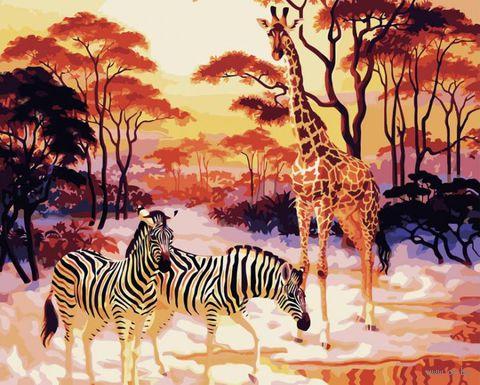 """Картина по номерам """"В африканской саванне"""" (400х500 мм)"""