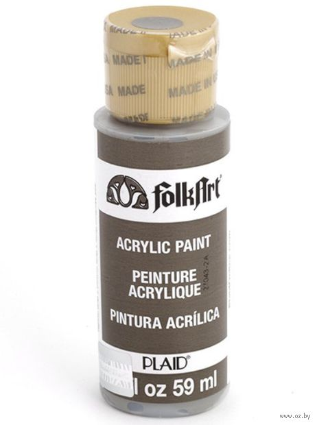 "Краска акриловая ""FolkArt. Acrylic Paint"" (средне-серый; 59 мл; арт. PLD-00425) — фото, картинка"