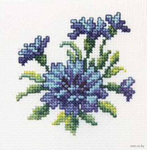 Вышивка крестом цветок василек