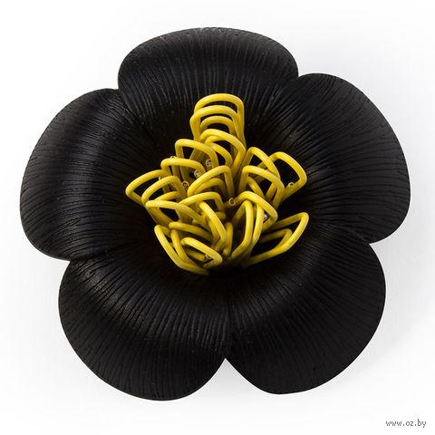 """Магнит для скрепок """"Blossom"""" (черный)"""