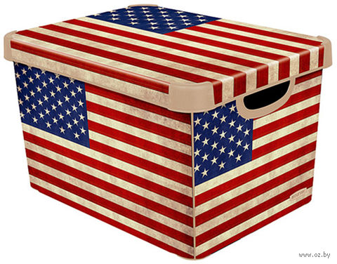 """Коробка для хранения """"USA Flag"""" (39,5х29,5х25 см) — фото, картинка"""