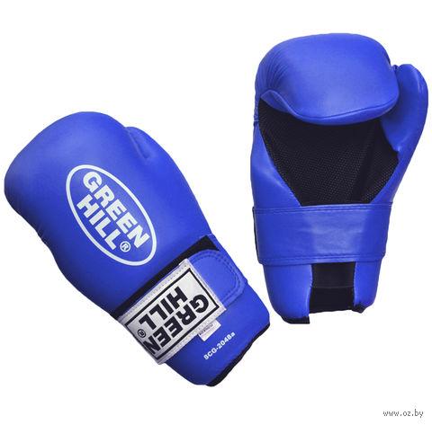 Накладки для карате 7-contact (XL; синие) — фото, картинка