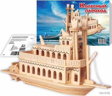 """Сборная деревянная модель """"Колесный пароход"""" — фото, картинка"""