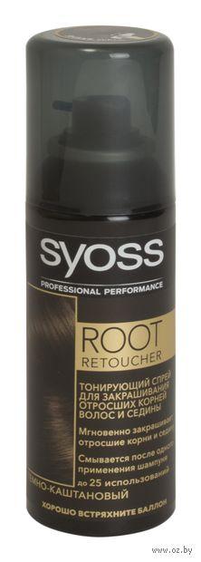 """Тонирующий спрей для волос """"Root retoucher. Темно-каштановый"""" (120 мл) — фото, картинка"""