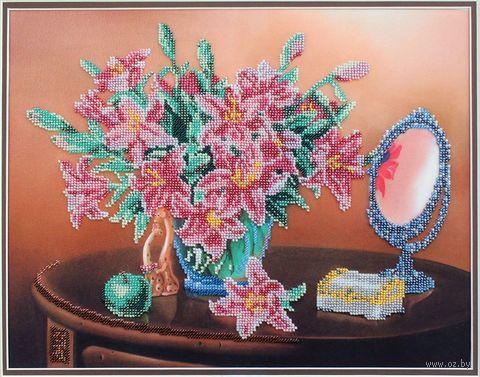 "Вышивка бисером ""Лилии в натюрморте"" (280х350 мм) — фото, картинка"